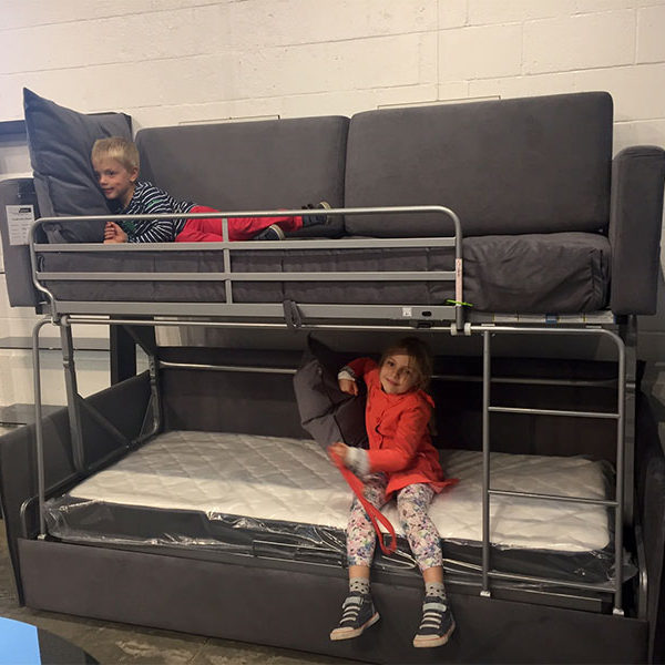 "Double Level Bunk Bed ""Coupe"" by Suinta, Spain(#703872 FLOOR MODEL ."