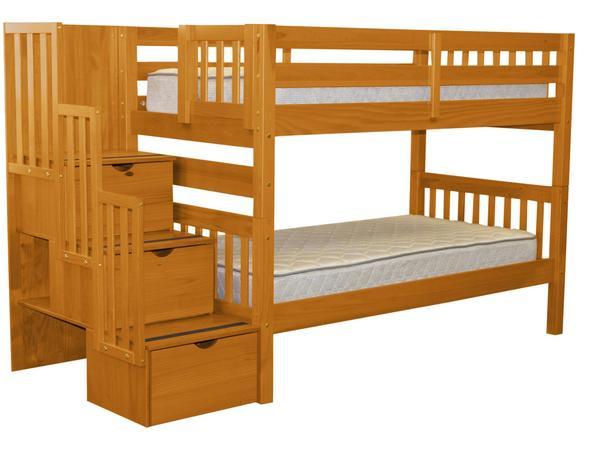 Bunk Beds Twin Stairway Honey $549 | Bunk Bed Ki