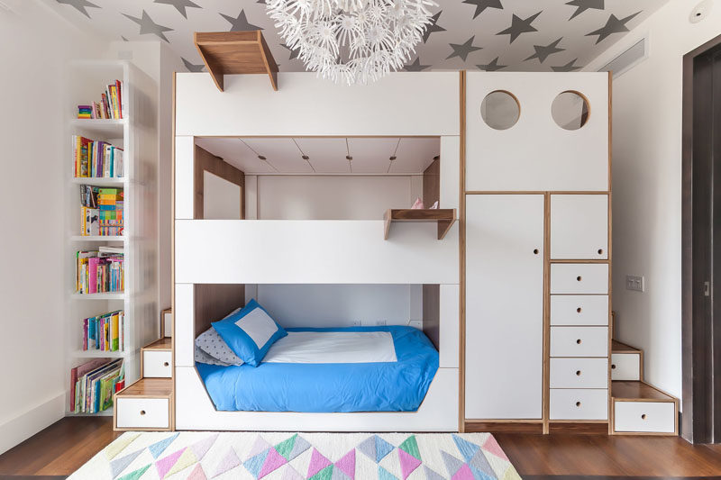 This Triple Bunk Bed Was Designed With Storage And Stai
