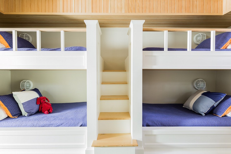 Bunk Beds with Built In Staircase - Cottage - Boy's Ro