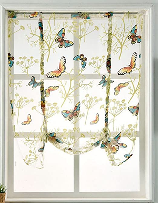 Amazon.com: HomeyHo Rod Pocket Curtain Sheers Curtains for Bedroom .