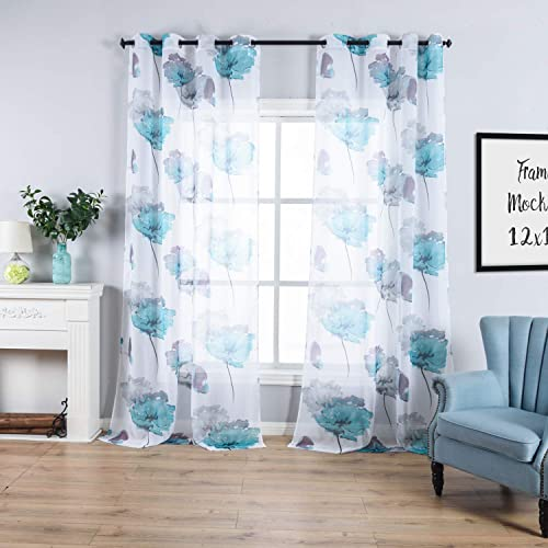 Window Curtains with Flowers and Butterflies: Amazon.c