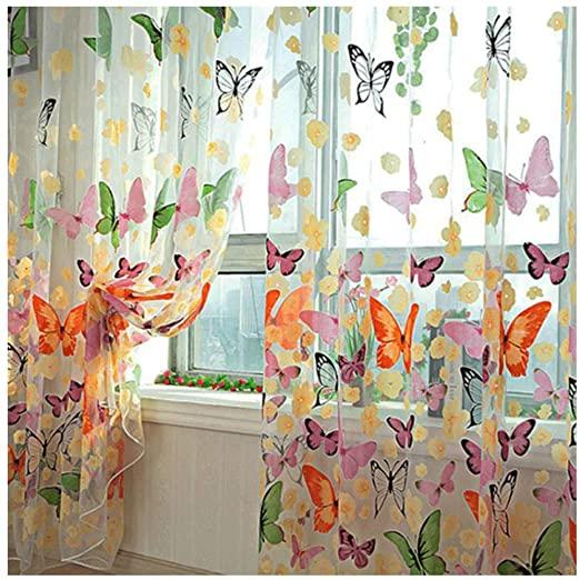Amazon.com: FenglinTech Curtains, 2Pcs 39.4x78.8 Butterfly .