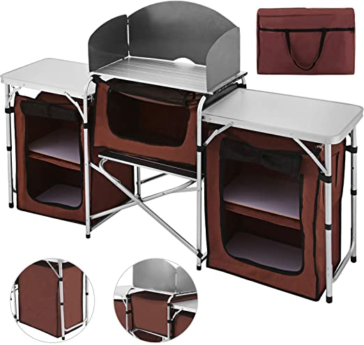 Amazon.com: Happybuy Portable Camping Kitchen Table .