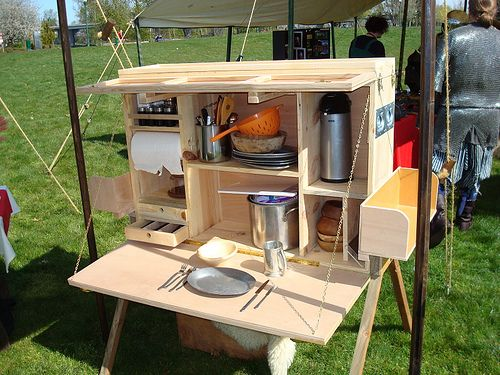Homemade Camping Kitchen Set | Camping box, Diy camping, Camp .