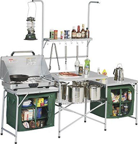 Folding Camping Kitchen with Storage Units - {Best Camp Kitchen .