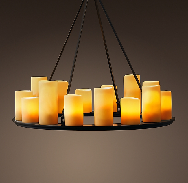 Pillar Candle Round Chandelier 3