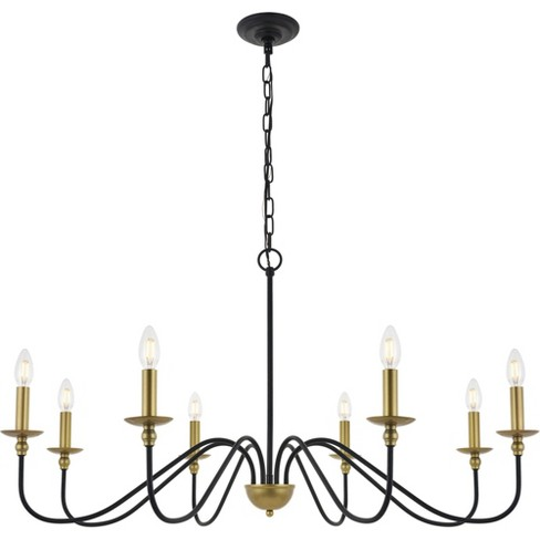 "Elegant Lighting LD5006D42 Rohan 8 Light 42"" Wide Taper Candle ."