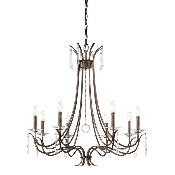 "Shop Park Harbor PHHL6258 8 Light 32"" Wide Taper Candle Chandelier ."