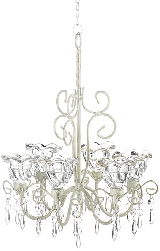 Amazon.com: Decorative Candle Chandelier, White Hanging .