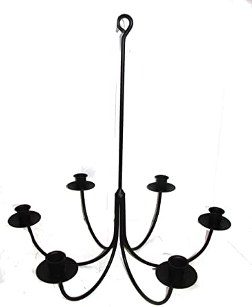 Amazon.com: Wrought Iron 6 Arm Candle Chandelier: Home Improveme
