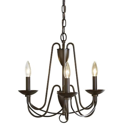 Allen + roth Wintonburg 3-Light Aged Bronze French Country/Cottage .