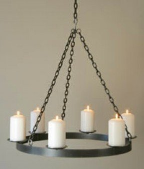Pillar Candle Chandelier - Ideas on Fot