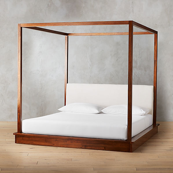 Bali Wood Canopy Bed King + Reviews | C
