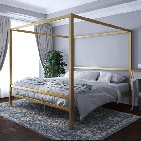 DHP Modern Canopy Bed, Gold, King - Walmart.com - Walmart.c