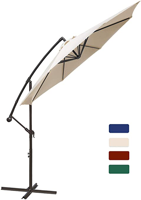Amazon.com : HASLE OUTFITTERS Offset Patio Umbrella 10FT .