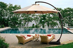 Amazon.com : Grand patio Offset Patio Umbrella,11 FT Curvy .