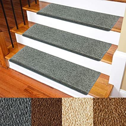 Carpet Stair Treads – Non-Slip Bullnose Carpet for Stairs – Indoor .