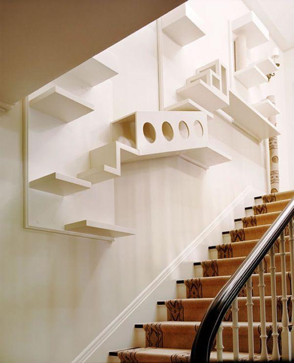 10 Amazing Cat Structures   Cat climbing wall, Cat room, Cat shelv