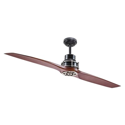 Kichler 56-in Satin Black Indoor Ceiling Fan and Remote (2-Blade .