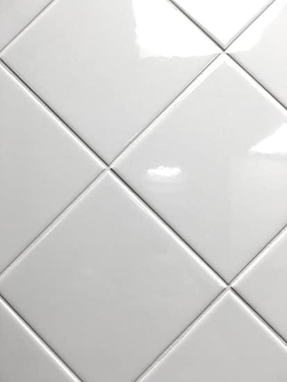 4x4 White Glossy Finish 4 1/4x4 1/4 Ceramic Subway Tile Shower .