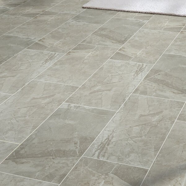 "Vision 12"" x 24"" Ceramic Field Tile in Gray & Reviews 