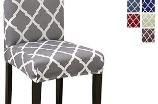 Amazon.com: Stretch Dining Chair Covers, Geometric Print Dining .