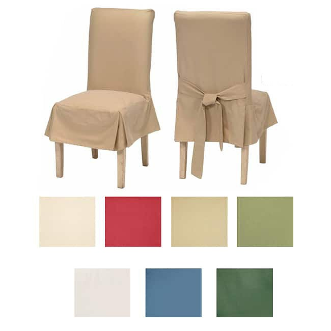 Shop Classic Cotton Duck Dining Chair Slipcovers (Set of 2 .