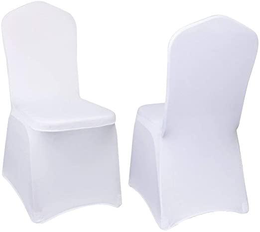 Amazon.com: 10pcs Chair Covers Slipcovers Spandex Wedding Banquet .