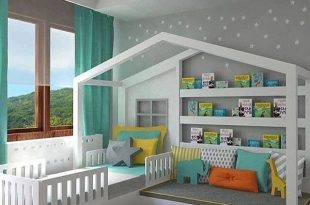 Kids Bedroom Ideas & Designs in 2020 | Toddler house bed, Toddler .