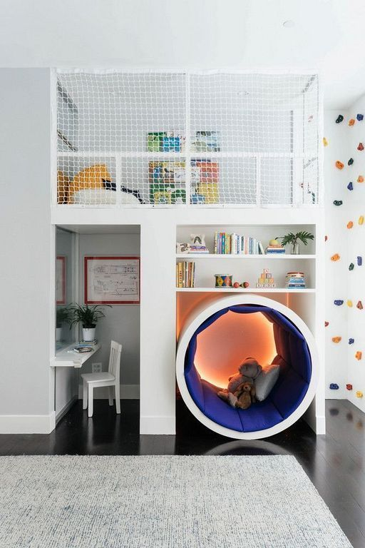 Space Saving Tips Kids in a Small Bedroom | Cool kids rooms, Cool .