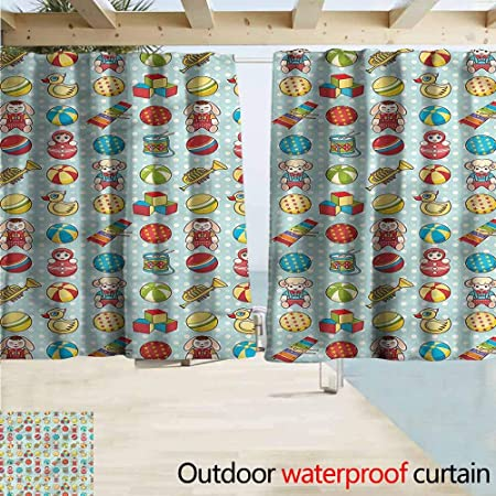 Amazon.com : MaryMunger Rod Pocket Blackout Curtain Panels Kids .
