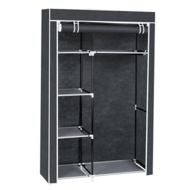 Clothes Closet Storage Portable Wardrobe Enclosed Rack Space .