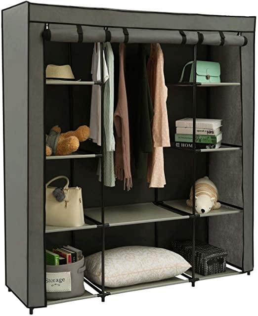 Amazon.com: Homebi Clothes Closet Portable Wardrobe Durable .