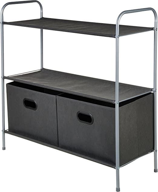 Amazon.com: AmazonBasics Closet Storage Organizer with Bins and .