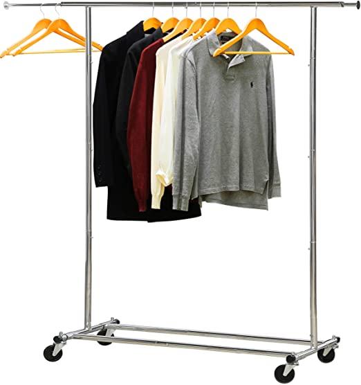 Amazon.com: Simple Houseware Heavy Duty Clothing Garment Rack .