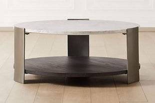 Beret Marble 2-Tier Coffee Table | C