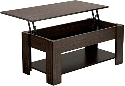 Amazon.com: Yaheetech Lift up Top Coffee Table with Under Storage .