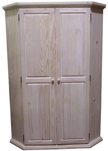 Amazon.com: Pacific Woodcraft Furniture Corner Computer Armoire .