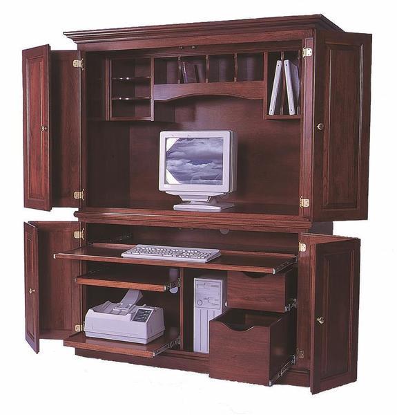 Desk Armoire from DutchCrafters Amish Furnitu