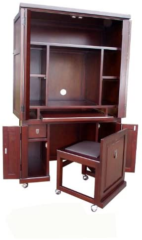 Amazon.com: D-ART COLLECTION Computer Armoire with Pull Out Seat .