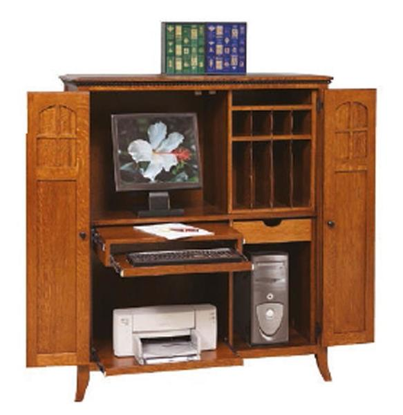 Maxwell Computer Armoire from DutchCrafters Amish Furnitu