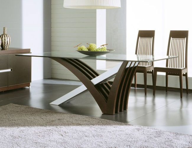 Glass Top Modern Dining Tables For Trendy Homes | Modern dining .