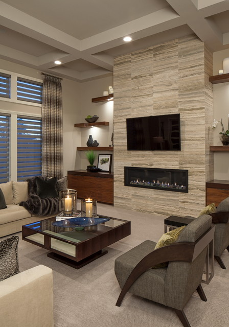 Client House - Contemporary - Living Room - Omaha - by Interiors .