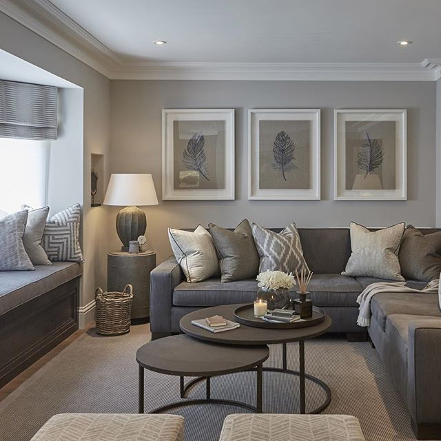 CONTEMPORARY LIVING ROOM | Grey Living Room | bocadolobo.com .