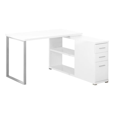 Monarch Specialties Modern/Contemporary White Corner Desk at Lowes.c