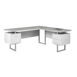 Contemporary white corner desks | Modern desk, White corner desk .