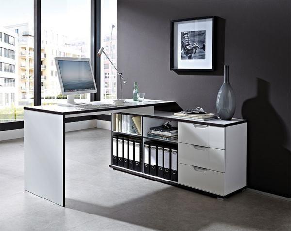 Contemporary white corner desks