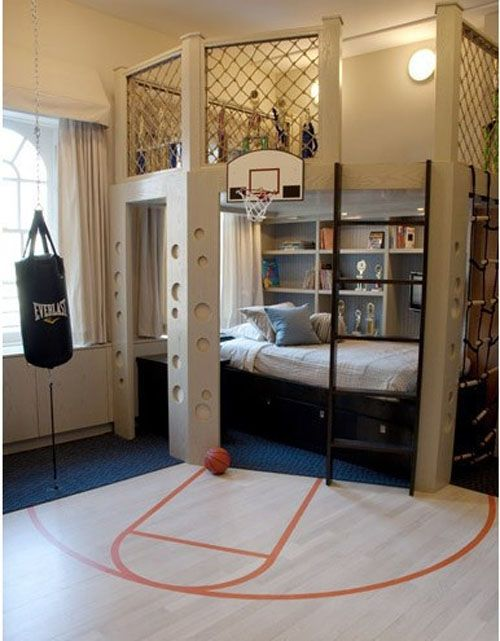 Cool Boys Room Idea with modern #bunk #bed | Cool boys room, Boy .