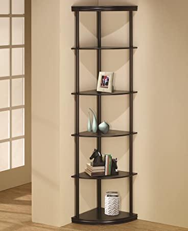 Amazon.com: 6 tiered pie shaped corner shelf unit in an espresso .